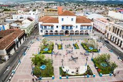 Park Céspedes in front of Cathedral of Santiago de Cuba Stock Photography