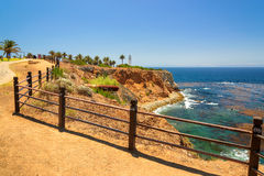 Park on California coast, Point Vicente Lighthouse, Los Angeles,  California Stock Photography
