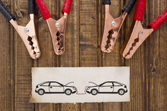 Park car recharge battery Stock Photography