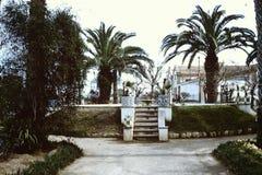 PARK IN CASTELLON DE LA PLANA, SPANIEN * 1965 Stockbild