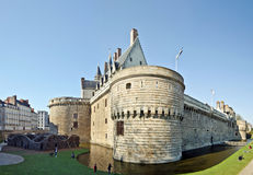 Park and Castle of the Dukes of Brittany in Nantes Stock Image