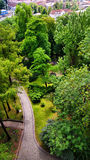 Park at Castle Hill in Cieszyn stock photography