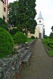 Park at castle Kamen Stock Image