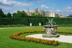 Park at Castle Lednice. South Moravia,Czech republic.Palace garden Royalty Free Stock Photography