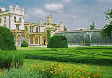 Park at Castle Lednice.Hothouse Royalty Free Stock Photo