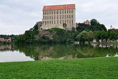 Park and Castle Plumlov, Czech Republic, Europe Stock Photos