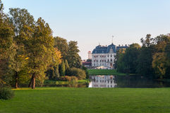 Park and castle in Pszczyna Stock Photography