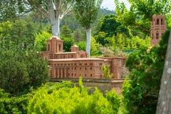Park of Catalunya en miniaturas in Barcelona,Spain royalty free stock image