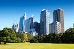 Park and CBD area Stock Image