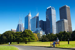 Park and CBD area Stock Images