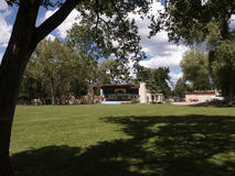 The park by the Cemetery in Taos where Soldier and pioneer Kit Carson and his descendants are interred in New Mexico USA Royalty Free Stock Photography