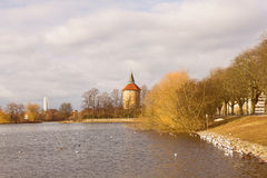 Park in Center of Malmo Sweden. Lake view at park in center of Malmo, Sweden Royalty Free Stock Photo