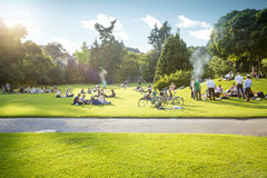 Park in the center of Zurich Royalty Free Stock Image