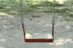 Park chain swing detail Royalty Free Stock Photos