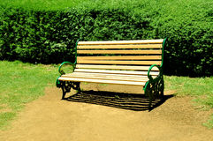 Park chair stock photography