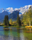 The park in Chamonix, Provence Stock Image