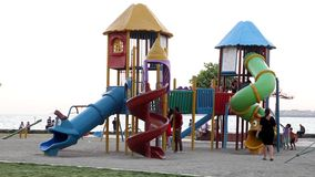 Park and Children stock footage