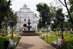 Park and church in Chaichuapa Stock Photo