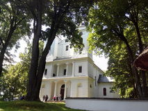 Park. Church, day, holiday, nature, sky , tree Stock Images
