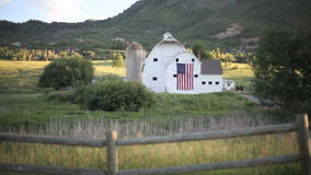 Park City Barn and Fence stock footage
