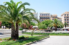 Park in the city of Corfu, Greece, Europe Stock Images
