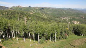 Park City Mountains. Beautiful shot of Park City, Utah mountains stock footage