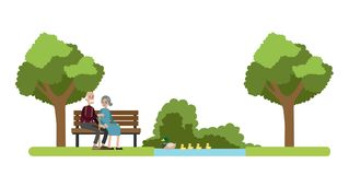 Park in the city. stock illustration