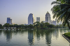 Park in city. Take in  a park bangkok Royalty Free Stock Images