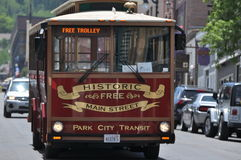 Park City Trolley Bus Stock Images