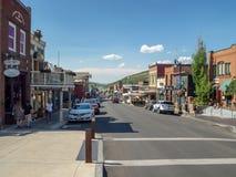 Park City, Utah, Estados Unidos, América: [pueblo olímpico del centro cerca de Salt Lake City foto de archivo