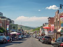 Park City Utah, Förenta staterna, Amerika: [olympisk by för mitt nära Salt Lake City royaltyfria foton