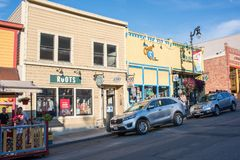 Park City, Utah. Park City, Utah: July 31, 2017: Park City, Utah.  Park City, Utah has two ski lodges and is also home of the Sundance Film Festival Royalty Free Stock Image