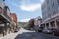 Park City, Utah. Park City, Utah: July 31, 2017: Park City, Utah.  Park City, Utah has two ski lodges and is also home of the Sundance Film Festival Stock Image