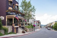 Park City, Utah. Park City, Utah: July 31, 2017: Park City, Utah.  Park City, Utah has two ski lodges and is also home of the Sundance Film Festival Stock Images