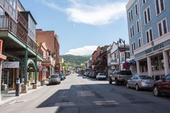 Park City, Utah. Park City, Utah: July 31, 2017: Park City, Utah. Park City, Utah has two ski lodges and is also home of the Sundance Film Festival royalty free stock images