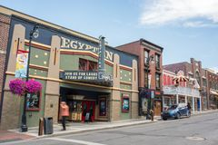 Park City, Utah. Park City, Utah: July 31, 2017: Park City, Utah. Park City, Utah has two ski lodges and is also home of the Sundance Film Festival stock photo