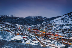Free Park City Winter City Night Scene. Stock Image - 87369671