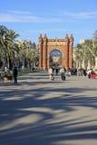 Park Ciutadella and Arc de Triomf in Barcelona Stock Images