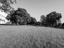 Park in Clifton in Bristol in black and white Stock Photo