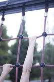 Park climbing ropes frame. For chikdren and adults to climb and train calisthenics bodyweight fitness Stock Photography