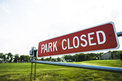 Park closed Royalty Free Stock Images