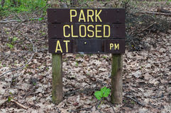 Park Closed sign Royalty Free Stock Photography