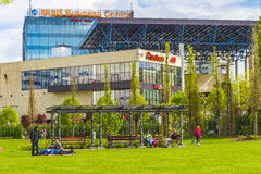 Park in cluj-Napoca royalty-vrije stock fotografie
