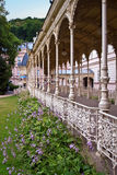 Park collonade in Karlovy Vary. Carved fence of the Park Collonade in Karlovy vary Royalty Free Stock Photography