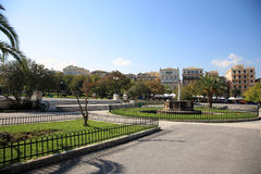 Park in corfu Stock Photo