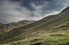 park Corno alle skala, Apennines, jesień krajobraz zdjęcie stock