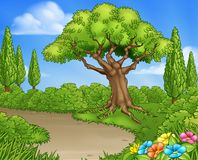 Park Country Lane or Garden Background royalty free illustration