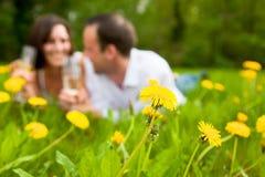 Park couple Stock Photography