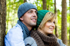 Park couple Royalty Free Stock Photography