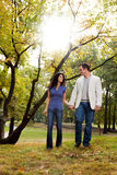 Park Couple Walk Royalty Free Stock Photography
